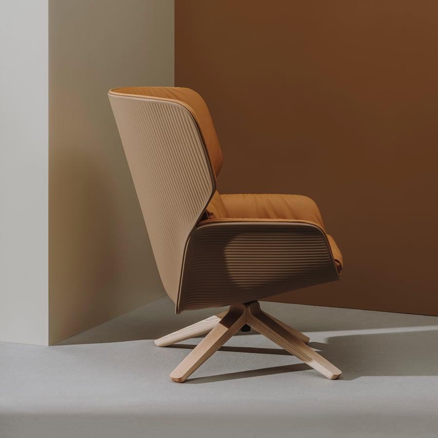 Andreu World Nuez Lounge BIO Chair