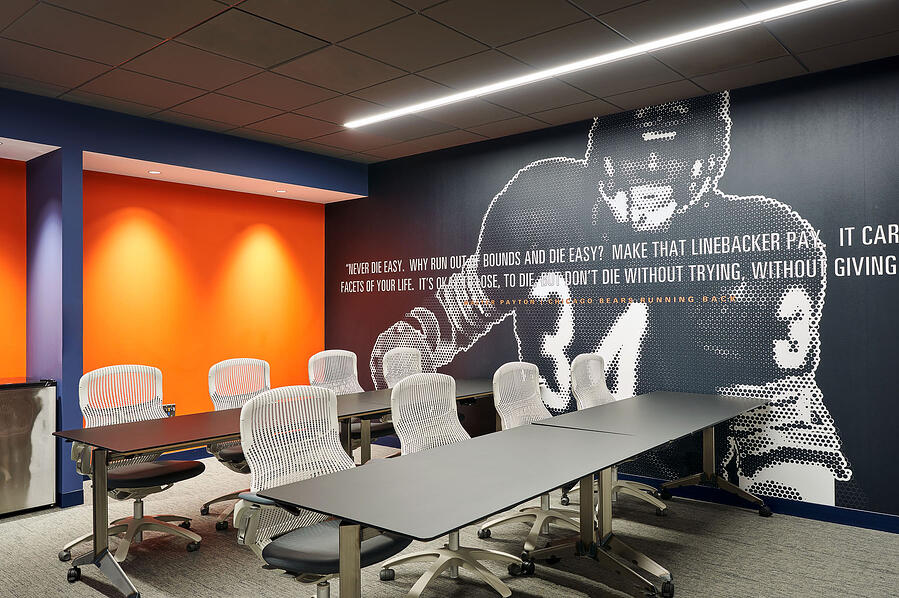 Chicago Bears Halas Hall Meeting Room